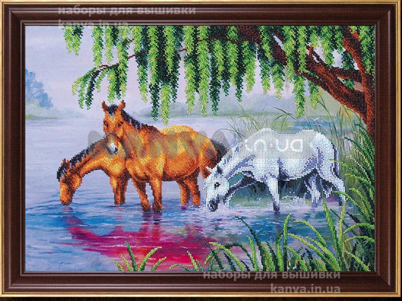На водопое [Б-238], лошади