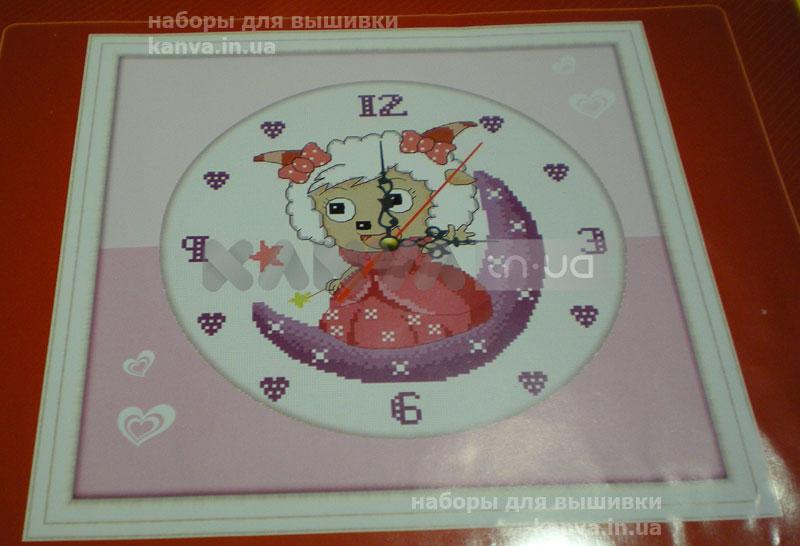 Настенные часы Барашек, набор для вышивки крестиком