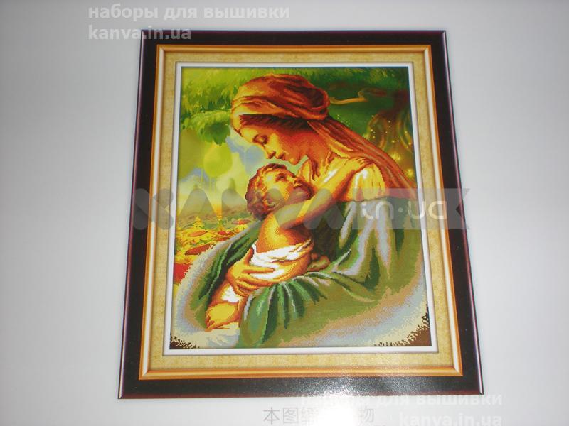Мать и дитя, 3Д вышивка 49,5Х61,5см, набор для вышивки крестиком
