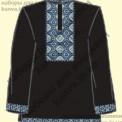 Рубашка рр44-64 мужская под вышивку с коротким рукавом черного цвета [ТМ Чаривна Мить]
