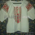 Сорочка-заготовка женская белая под вышивку крестом с коротким рукавом, ТМ Чарівна Мить