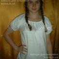 Сорочка-заготовка женская под вышивку БИСЕРОМ, крестом с коротким рукавом, ТМ Чарівна Мить
