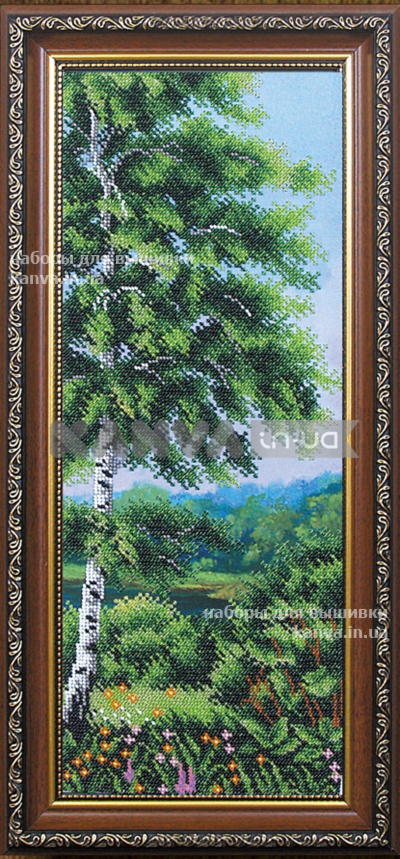 Березовая роща3 [Б-182], лес бисером, набор для вышивки бисером ТМ Магия Канвы