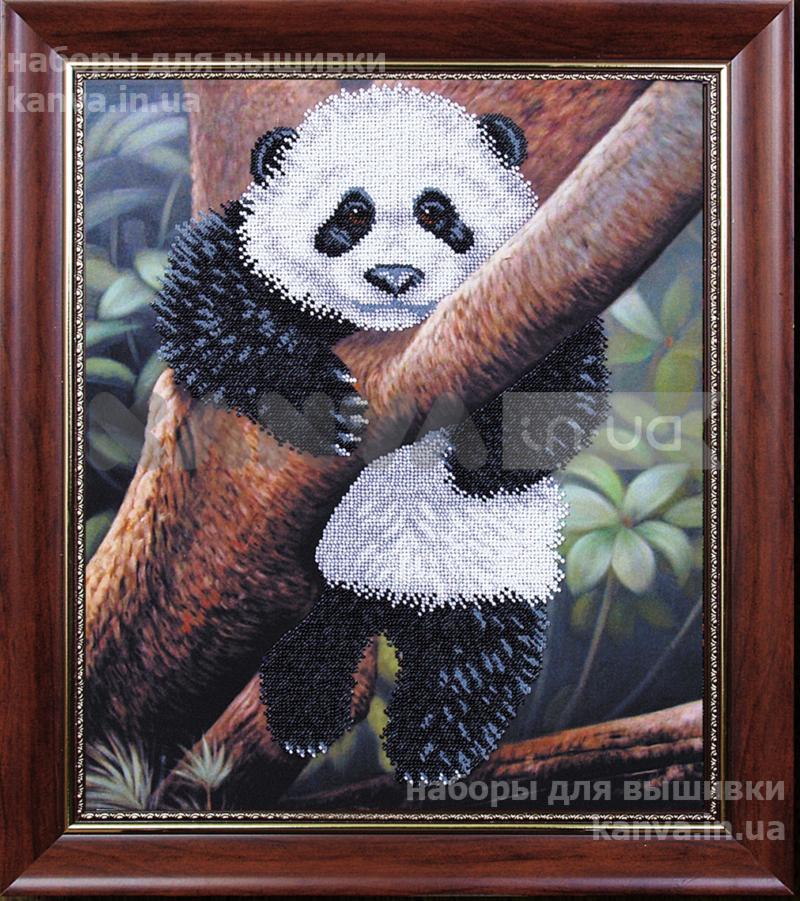 Панда вышивка бисером