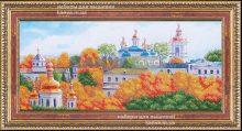 Золотые купола [Б-224], церковь бисером, набор для вышивки бисером ТМ Магия Канвы