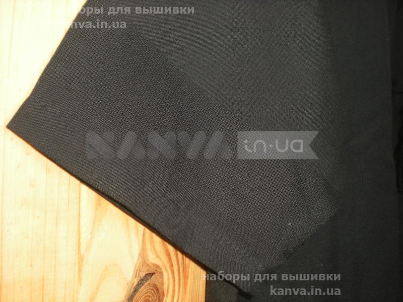 ... мужская 04-Рубашка мужская черная под вышивку крестом с коротким рукавом dd2381d56bfcc