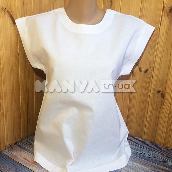 Пошитая блузка под вышивку из белой равномерки