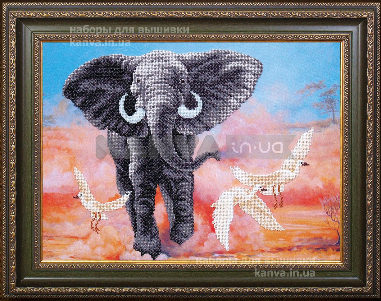 Африканский слон [Б-293], набор для вышивки бисером