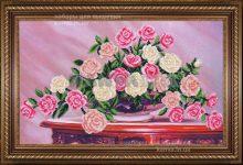Садовые розы [Б-296], садовые розы бисером, набор для вышивки бисером