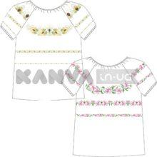 Сорочка-заготовка женская под вышивку БИСЕРОМ, крестом с коротким рукавом