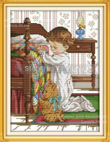 Скоро! Молитва малыша 33Х42см, 14СТ, набор крестом