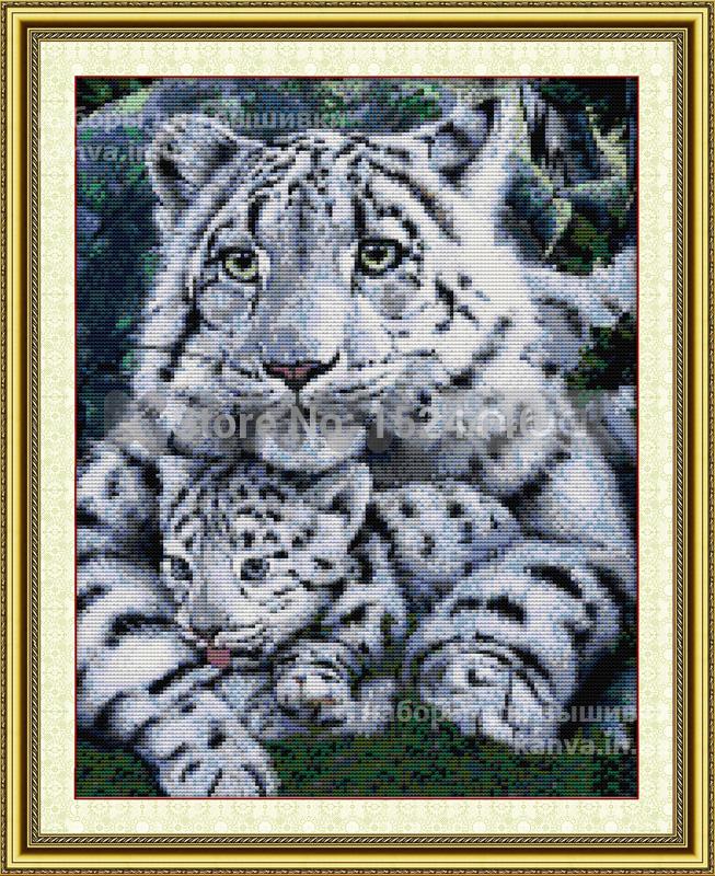 Тигры: мать и малыш 38Х46см, 14СТ, набор крестом