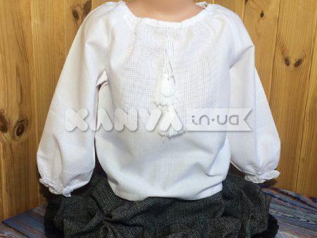 Сорочка белая для девочки под вышивку крестом, с длин.рукавом