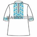 Сорочка под вышивку для мальчика с коротким рукавом, белая