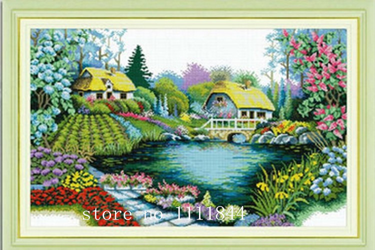 Домики с цветущими деревьями, 11СТ