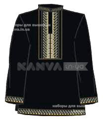 Рубашка мужская черная под вышивку с длинным рукавом р.44-60 ... 4cccb60e7353e