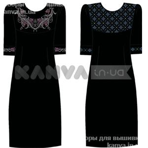 Черное платье-футляр под вышивку крестом 7883f6392cfcd