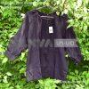Сорочка черная женская под вышивку бисером, крестом с рукавом 3/4 на пуговках