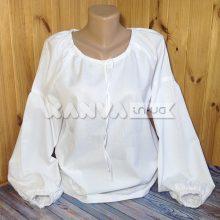 Сорочка под вышивку женская с длинным рукавом с вставкой по низу