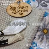 Сорочка женская под вышивку бисером, крестом с рукавом 3/4 на пуговках, лен