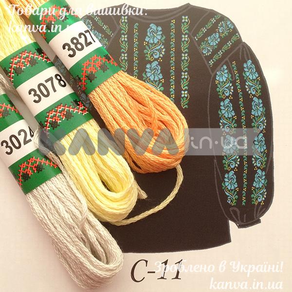 C-11 схема+мулине для женской вышиванки