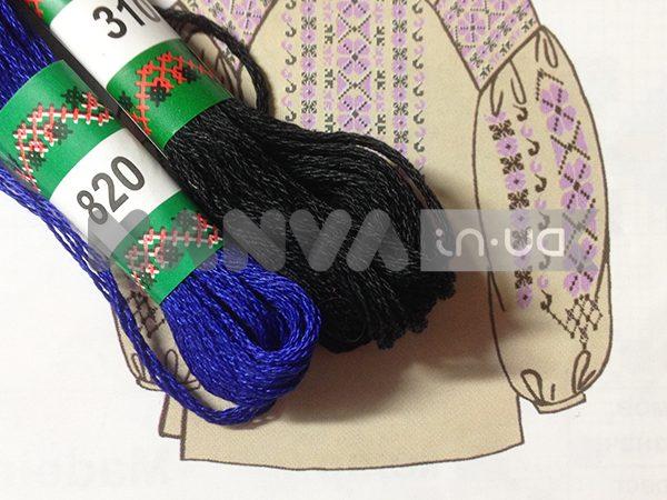 С-55 схема+мулине для женской вышиванки