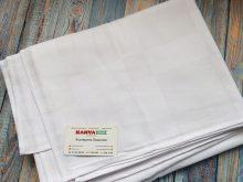 Скатерть под вышивку 2,0х1,50 (квадратный рисунок) белая