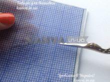 Флизерин Клеточка под вышивку крестом, бисером (Аида 16), водорастворимый