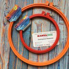 П'яльця круглі Pony для вишивання пластикові з гвинтом 200mm, 130mm