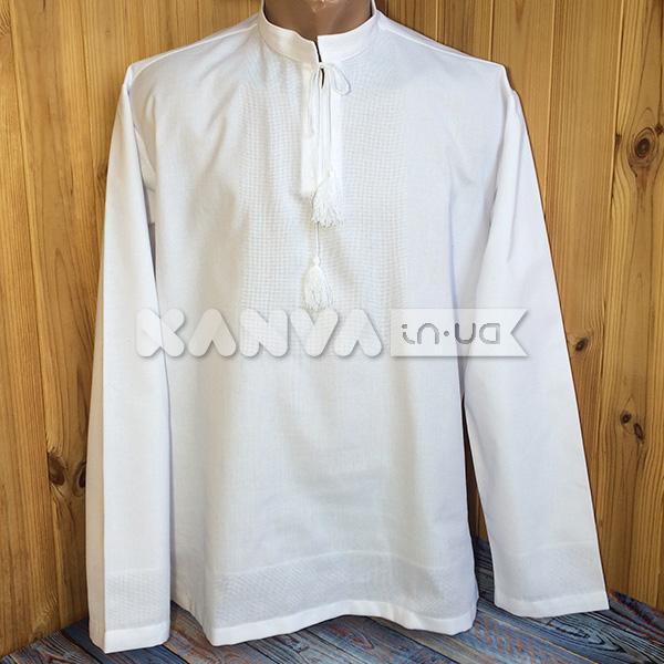Белая рубашка под вышивку с длинным рукавом, мужская