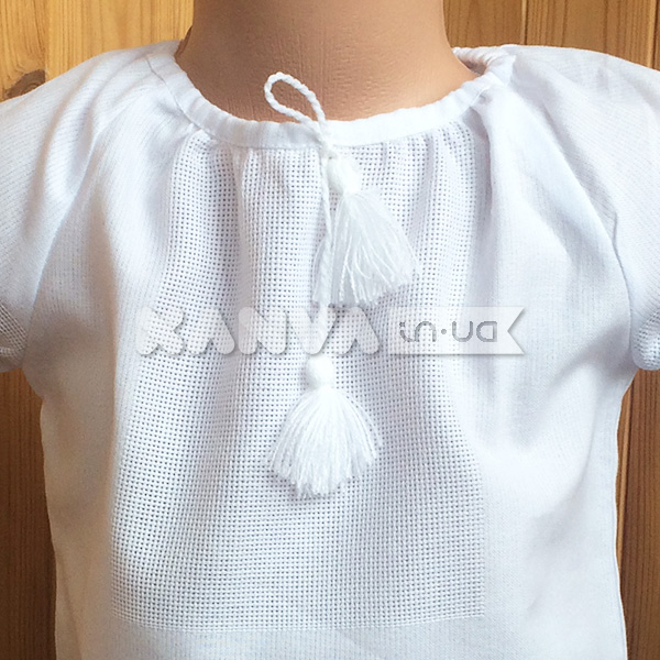 Сорочка-заготовка под вышивку крестом с коротким рукавом для девочки d34f2511081de