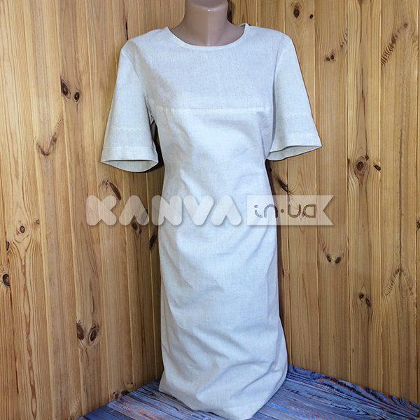 Платье-футляр под вышивку, лен