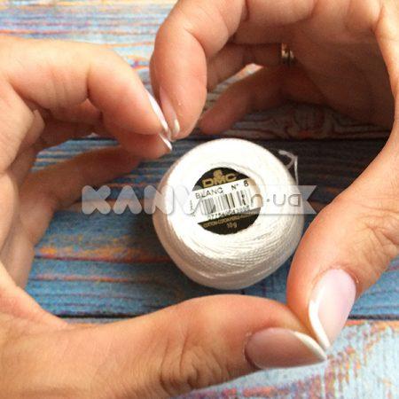 Pearl Cotton DMC №8 нитки для мережки, blanc