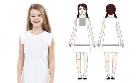 Сукня для дівчинки, біла. Код 726-18/09