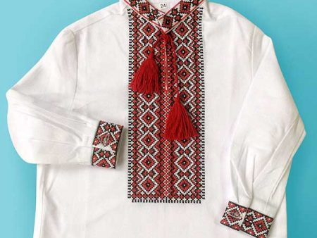 Перша Вишиванка для хлопчика, сорочка вишита р. 24. Код 870-14/09