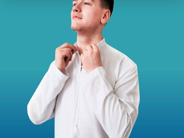 Біла сорочка під вишивку чоловіча з довгим рукавом ТПК_162 21_0308