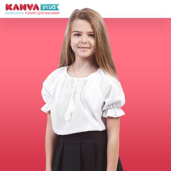 Дівчача сорочка з короткими рукавами