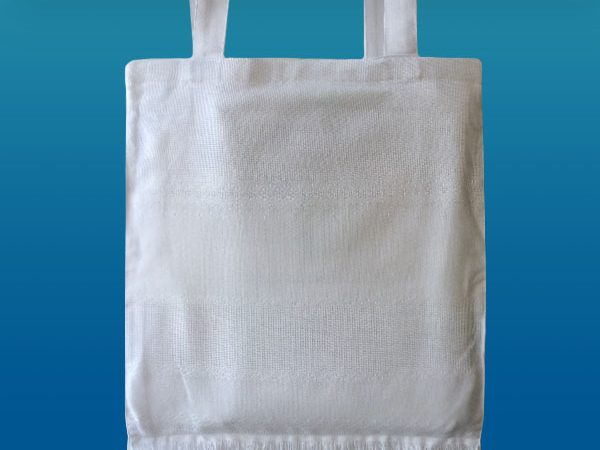 Сумка біла під вишивку на підкладці
