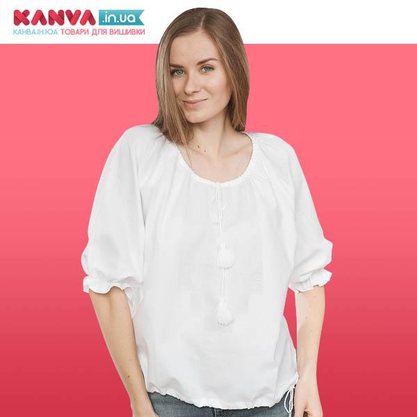 Сорочка жіноча під вишивку з короткими рукавами