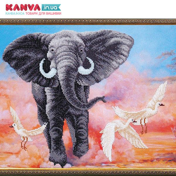 Вишивка бісером СЛОН, набір [Африканский слон Б-293]